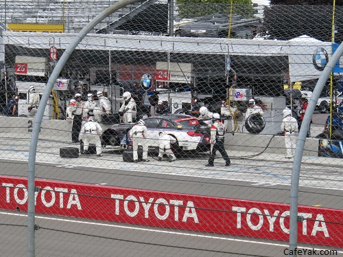 IMSA 6 hours at the Glen pit stop