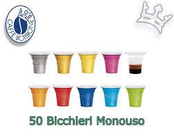 Caffè Borbone 50 Einwegbecher-Bicchierini