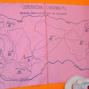 Huehuetenango區手繪地圖