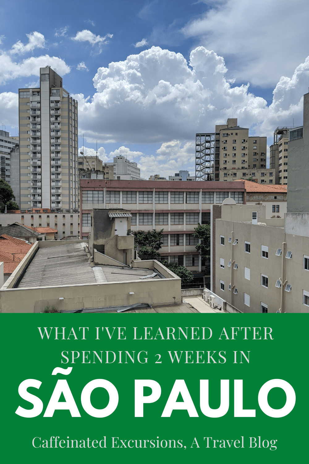 I've spent the past two weeks getting to know São Paulo, and I've got to say I'm already in love with the city! If you're considering a visit, check out my post for an honest review of what you can expect! #sãopaulo #sãopaulobrasil #brasil #brazil #sãopaulobrazil #saopaulobrazil #sampa #paulista #paulistano #bairrosdesaopaulo #visitbrazil #visitsaopaulo #braziltravelguide #saopaulotravelguide #southamericatravel #travelsouthamerica #travelbrazil #bestofsaopaulo #travelblog #travelblogger