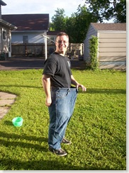 The pants I used to wear - 42 inch waist, now I wear 34.