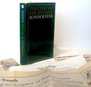 Dietrich Bonhoeffer's Book, Cost of Discipleship, Among Newspaper Clippings on the Holocaust