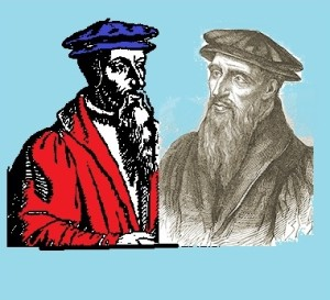 Picture of Protestant Reformers John Calvin and William Farel