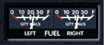 Fuel Gauge in Middle Position