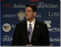 Congressman Paul Ryan at Value Voters Summit