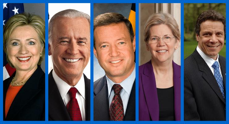 2016 Prospective Democrat Candidate (minus Brian Schweitzer)