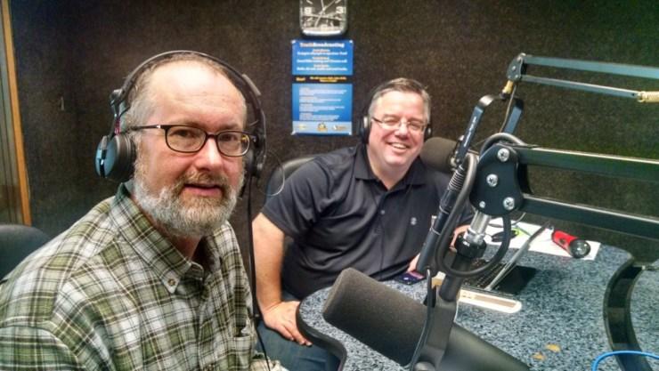 Jeff George and Shane Vander Hart in the KTIA Studio