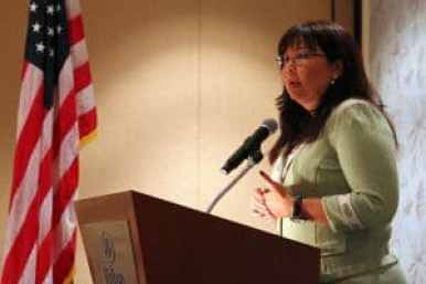 Congresswoman Tammy Duckworth (D-IL) Photo credit: PFC Christofer P. Baines (USMC) (Public Domain