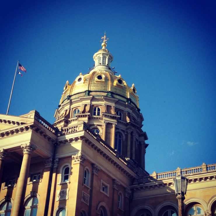 Iowa Statehouse Dome Square