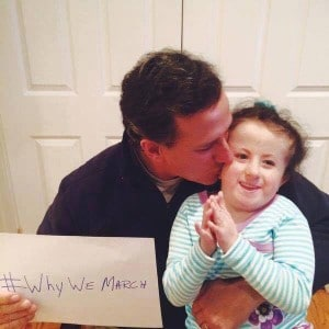 Rick Santorum with his daughter Bella