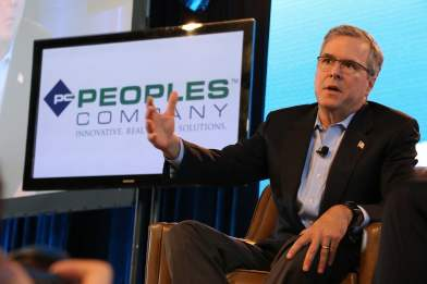Jeb Bush at the 2015 Iowa Ag Summit  Photo credit: Dave Davidson - Prezography.com