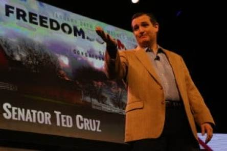 Ted Cruz at the 2015 Iowa Freedom Summit Photo credit: David Davidson - Prezography.com