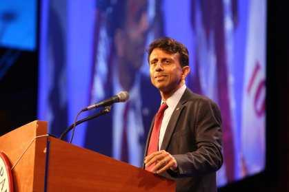 Gov. Bobby Jindal (R-LA) at Iowa GOP Lincoln Dinner<br>Photo credit: Dave Davidson - Prezography.com