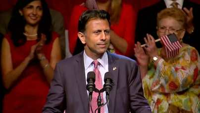 Jindal announces his candidacy for President in Kenner, LA.