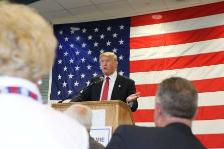 Donald Trump at Pottawattamie County GOP   Dinner on 5/15/15.Photo credit: Dave Davidson - Prezography.com