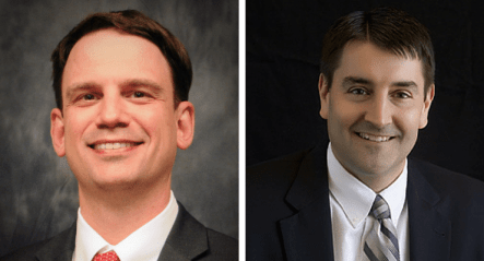 Ryan Wise (left) will replace Brad Buck (right) as director of the Iowa Dept. of Education