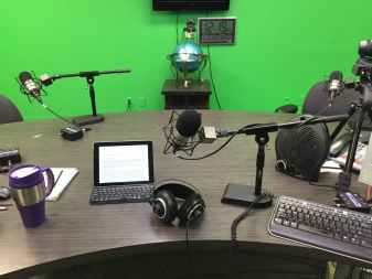 Ready to go at the Webcast One Live studio