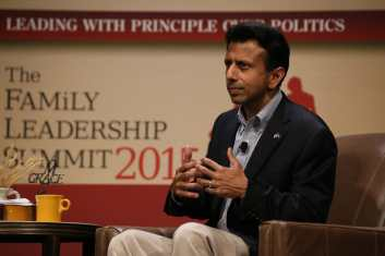 Jindal at the FAMiLY Leadership Summit 2015Photo credit: Dave Davidson (Prezography.com)