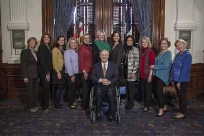 Texas Gov. Greg Abbott with Texas Alliance for Life
