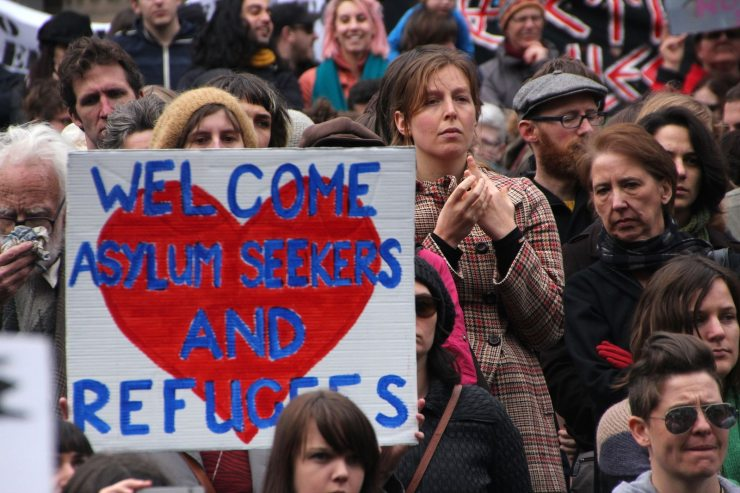 """Are the people who shout """"refugees welcome"""" also willing to pay the price? Photo credit: Takver via Flickr"""
