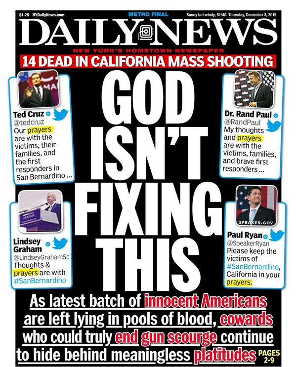 Liberals judge God incompetent after San Bernardino shooting.