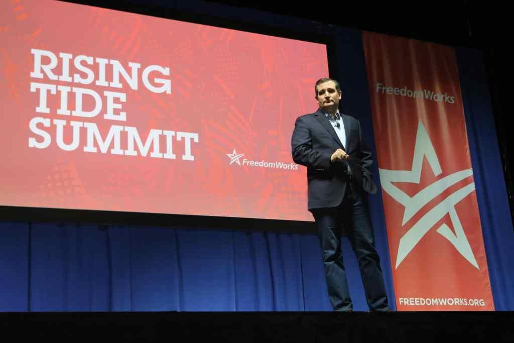 U.S. Senator Ted Cruz (R-TX) at the 2015 Rising Tide Summit in Cedar Rapids, IA.Photo credit: Dave Davidson (Prezography.com)