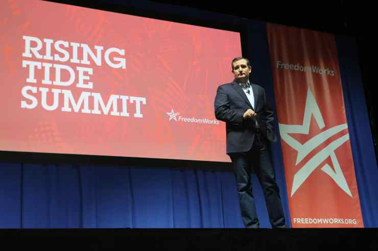 U.S. Senator Ted Cruz (R-TX) at the 2015 Rising Tide Summit in Cedar Rapids, IA.Photo credit: Dave Davidson (Prezography.com)