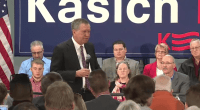 Ohio Governor John Kasich at a town hall in Watertown, NY.