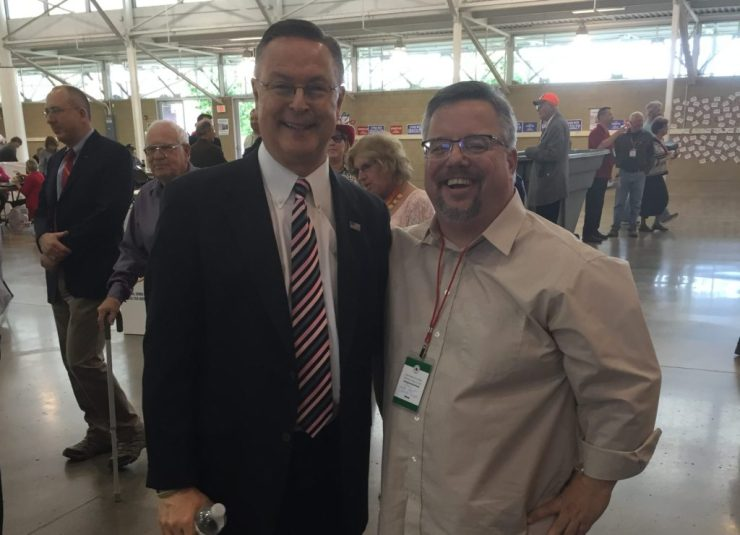 Ran into Congressman Rod Blum at lunch.