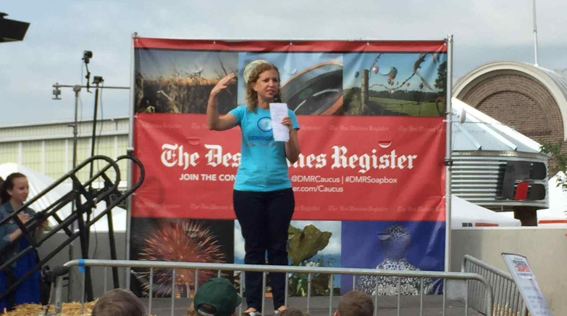 Debbie Wasserman-Schultz at the 2015 Iowa State Fair.