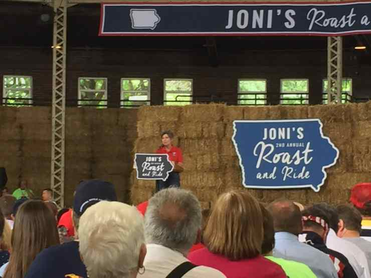 U.S. Senator Joni Ernst (R-IA) at her 2nd Annual Roast and Ride.