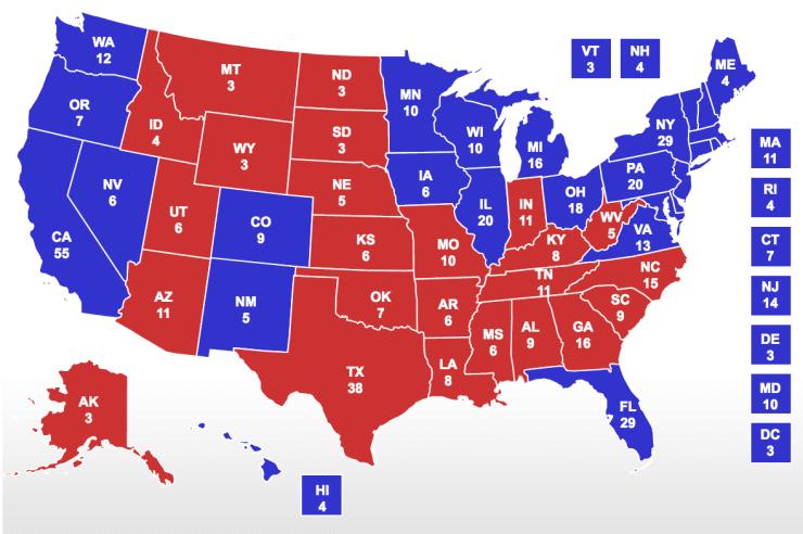2012 Electoral College Map