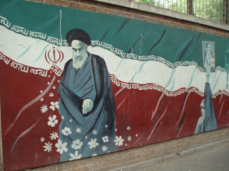 Mural of Grand Ayatollah Sayyed Ruhollah Musavi Khomeini in Tehran, Iran. Photo credit: David Holt