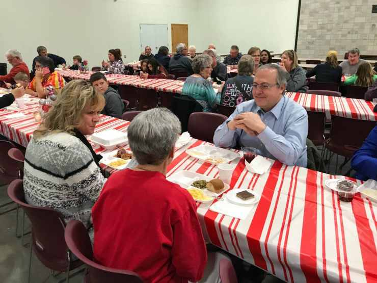 Congressman David Young at the Small Town Country Christmas event in Milo, IA.