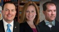U.S. Senator Mike Lee (R-UT), Judge Amy Comey Barrett, and Texas Supreme Court Justice Don Willett