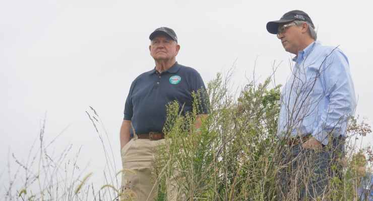 U.S. Secretary of Agriculture Sonny Perdue with Congressman David Young (R-Iowa) at a CPREP site in Panora, Iowa.