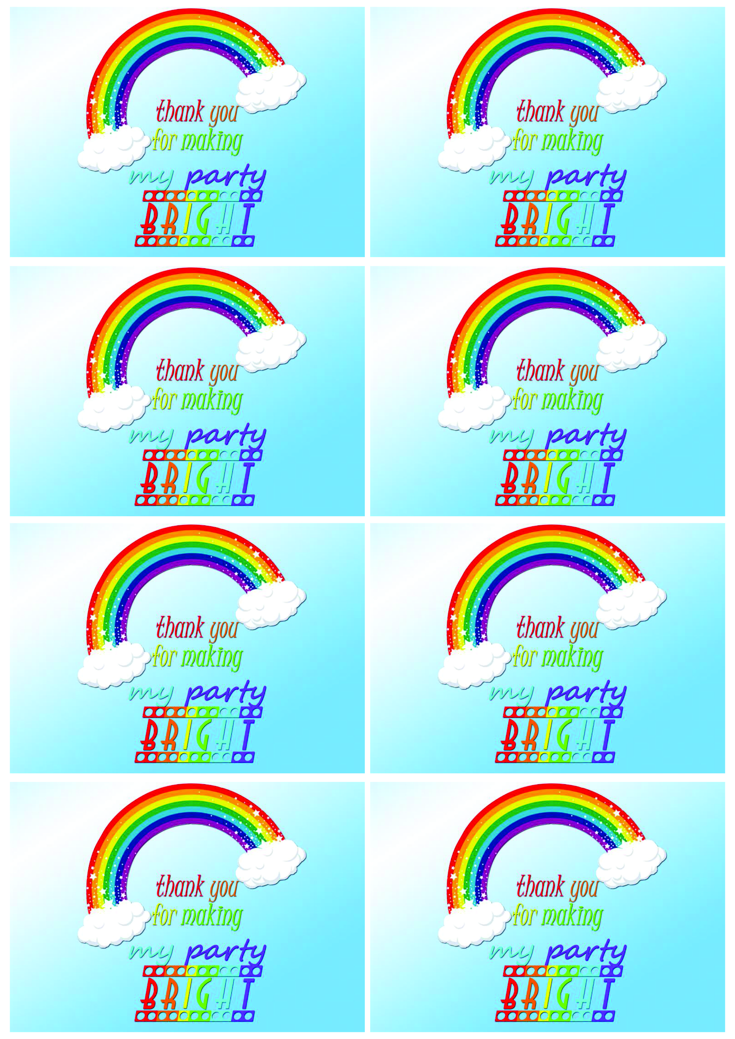Mikayla S Magical Rainbow Party Free Printables Please Note This Post Is Picture
