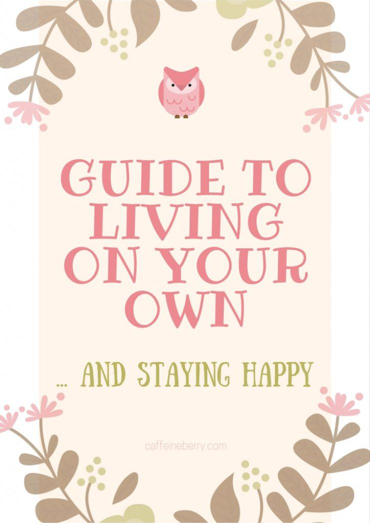 Guide to living on your own... and staying happy