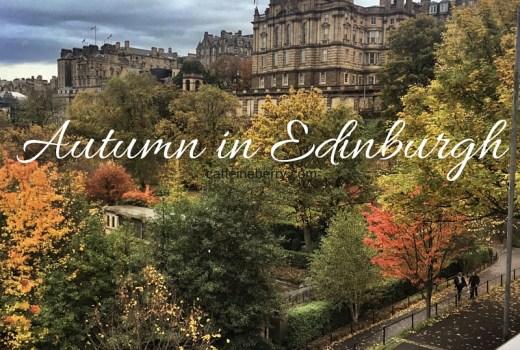 Autumn in Edinburgh - fall leaves