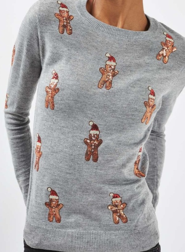 gingerbread-men christmas jumper