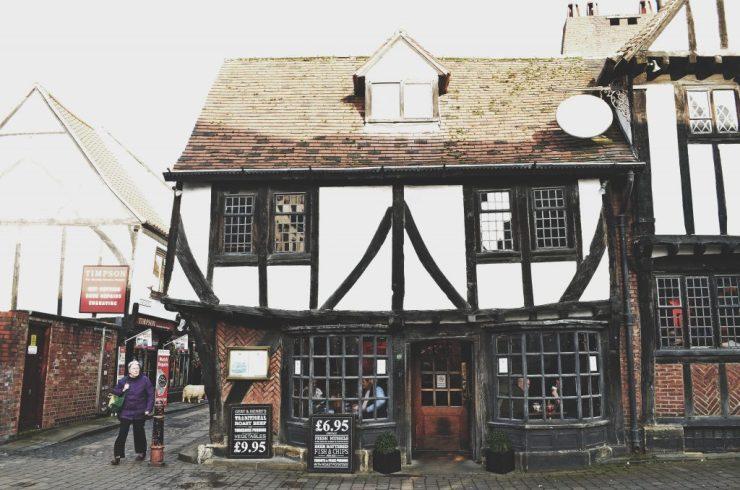 Old city home, York, Northern England