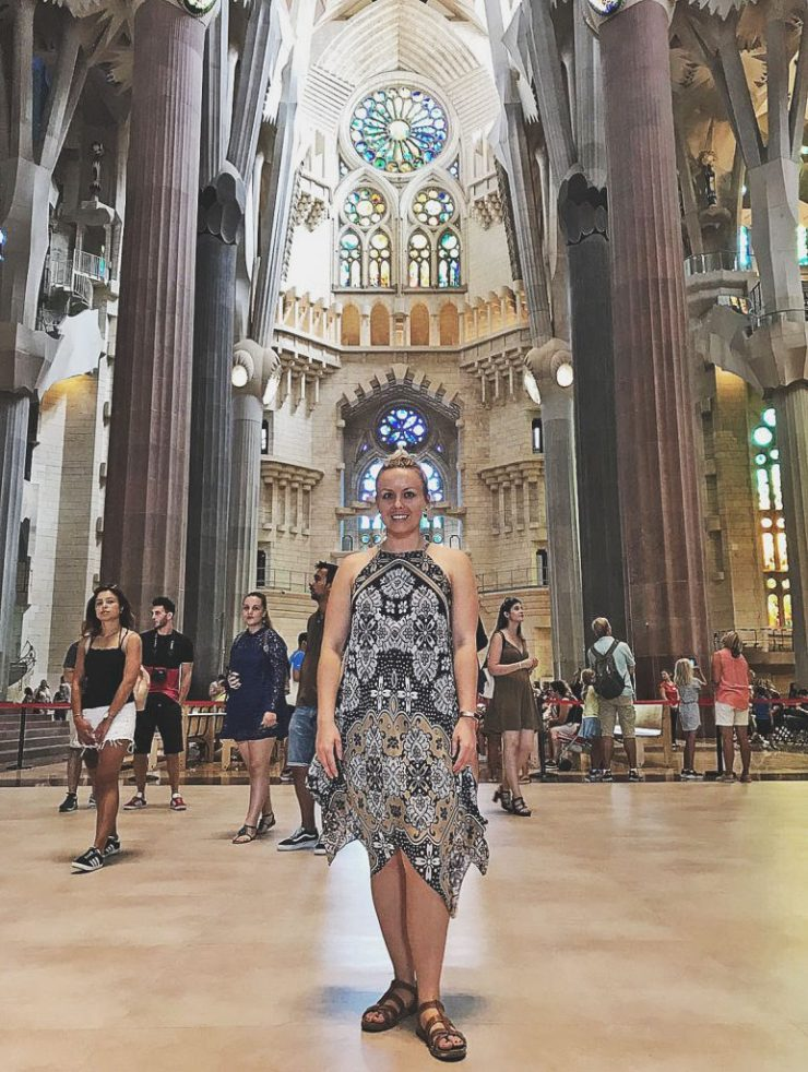 Taking it all in - Caffeineberry in Barcelona - Sagrada Familia