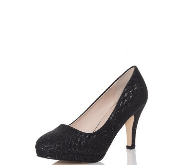 cute holiday shoes - black pumps with glitter