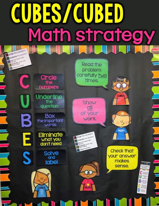 math strategy posters for bulletin boards