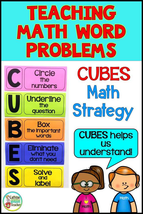 CUBES math reference posters for the classroom