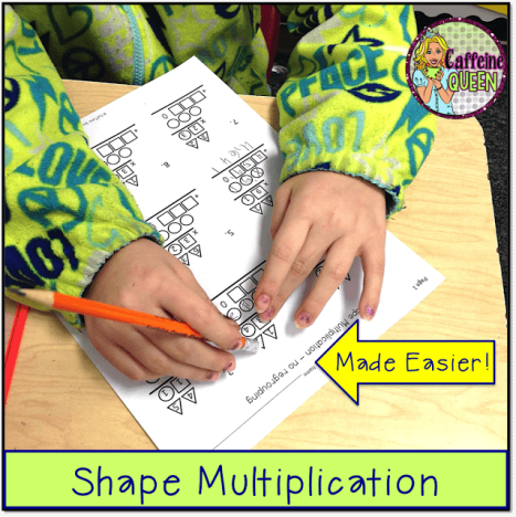 double-digit multiplication is easier for students to learn with visual organizer and worksheets