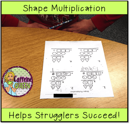 shapes and colors offer teachers a visual strategy for teaching 2-digit multiplication to students