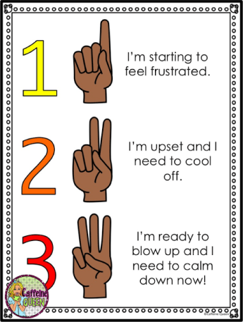 Hand signals allow silent communication for upset students