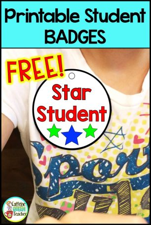 FREE printable paper Star Student badge for student awards