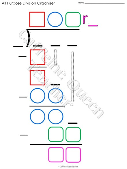 How to teach long division using a visual organizer